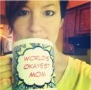 Andrea and her mug.